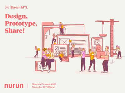 Design, Prototype, Share! — Sketch MTL event #03