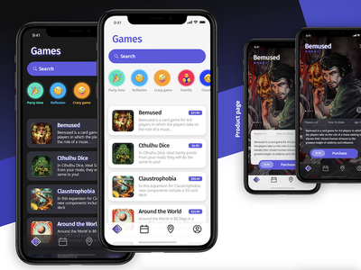 🎲 Diceclub: Boardgames in your pocket brand showcase dice app iphone boardgame ui ux