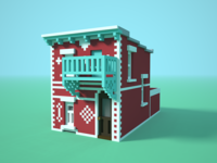 🏠✍️ Little house voxel