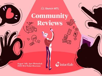 ✍️ illustration for Sketch MTL event Community Review  2 sketch share mtl montreal illustration community
