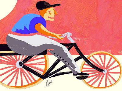 Sunday Bike illustration