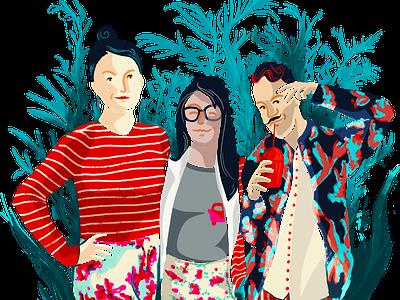 People at Intact lab illustration