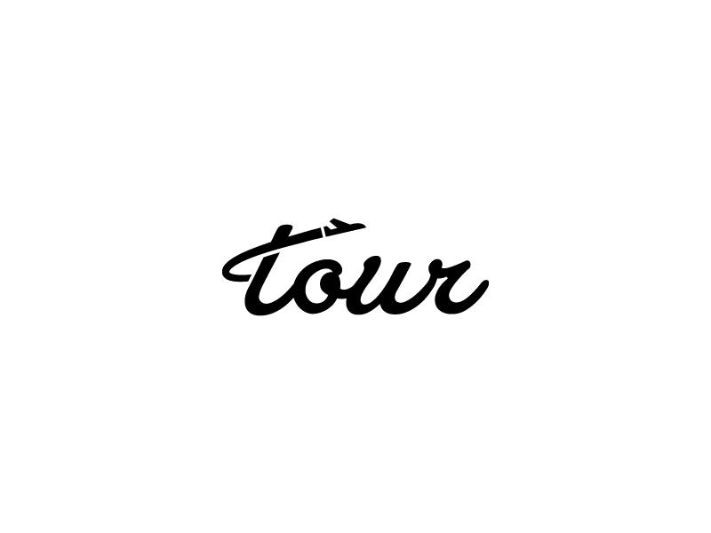 Tour Logo monogram type typo letters lettering logotype logo tour