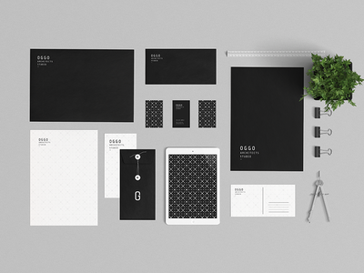OGGO Studio Architects clean minimal creative graphic design logo identity brand stationery branding studio architecture