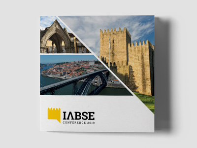 IABSE Conference branding logo graphic black yellow conference flyer booklet design print
