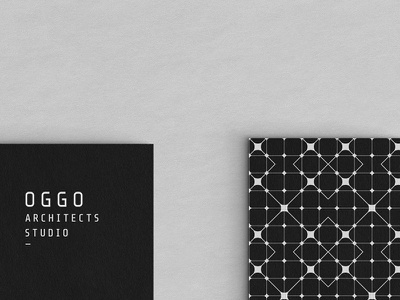 OGGO Studio Architects mockup design corporate identity logotype symbol logo branding