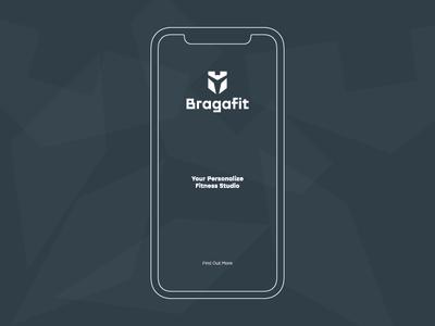 Bragafit - Fitness Studio logo fitness bragafit branding