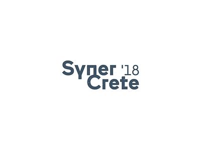 SynerCrete'18 Conference typography typo type branding logotype logo concrete