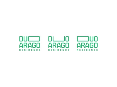 Duo Arago Residence estate real residential monogram branding experimental logo