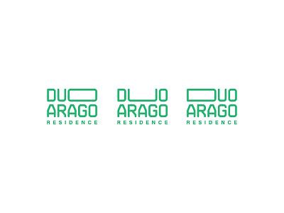 Duo Arago Residence estate real residential monogram branding experimental logo