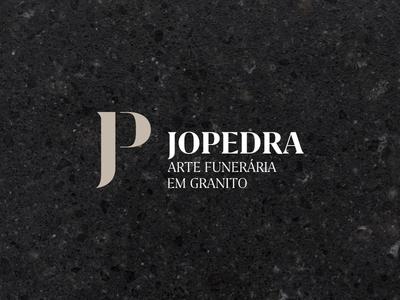 Jopedra Logo funerary black preto granito marmore marble granite stone logo