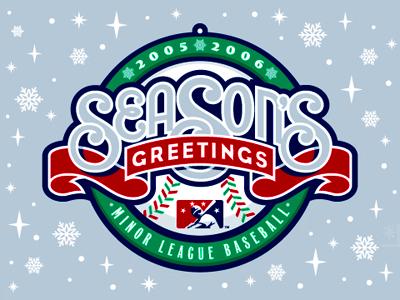 Way Back Machine, Part 1 studio simon seasons greetings christmas holidays baseball ribbon ornament