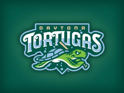 Daytona Tortugas studio simon logo baseball daytona tortugas turtle bat