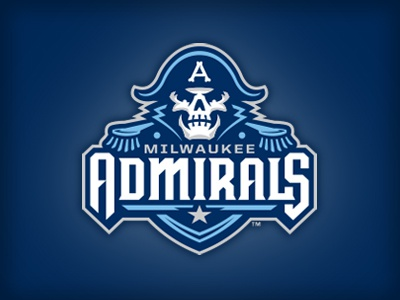 Wait 'til Your Father Gets Home skeleton navy nautical milwaukee admirals hockey logo studio simon