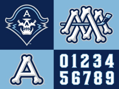 Admirals Brand Extensions navy skeleton milwaukee admirals bones logo hockey studio simon