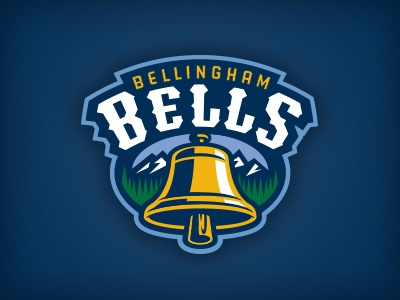 Road Not Taken, Part 15 bellingham bat trees mountains bell baseball logo studio simon