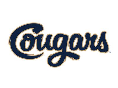 Cougars Script baseball cougars script lettering studio simon
