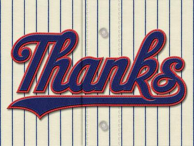 Thanks thank you thanks lettering studio simon