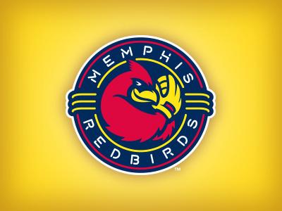 Redbirds Secondary sports roundel bird redbirds memphis baseball logo studio simon