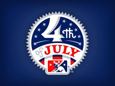 4th of July july 4th stripes stars baseball logo studio simon