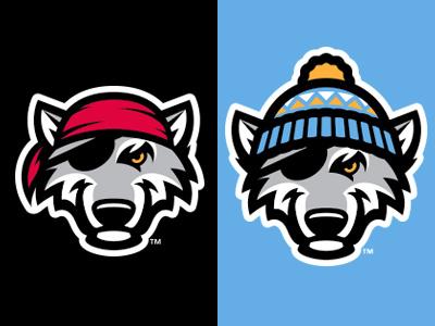 SnowWolves snow winter pirate wolf logo baseball studio simon