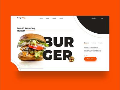 BurgerPlug web UI color ux uiux landingpage webui ui design