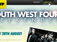 South West Four festival mini site