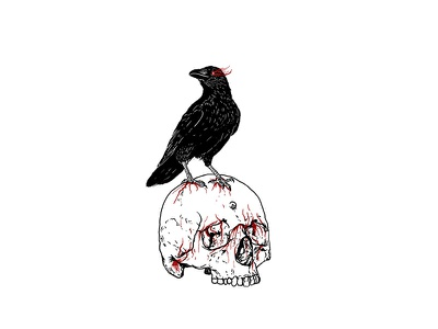 Death always win. merch band tees t-shirt crow skull branding logo illustration