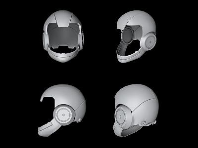 Modeling work cyborg concept mechanic tech sci-fi clay modeling cinema4d c4d
