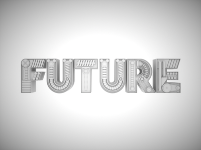Future Clay Render typography typo octane sci-fi concept scifi machine render mechanic clay 3d cinema4d c4d