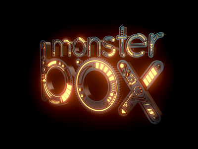 Mechanic Monster Box redshift logo design typography scifi machine mechanic concept render 3d cinema4d c4d