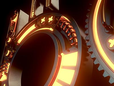 Mechanic Monster Box redshift logo design sci-fi typography scifi machine mechanic concept render 3d cinema4d c4d