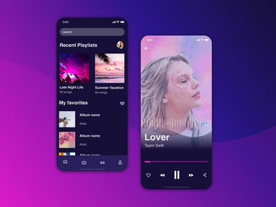 DailyUI - Music Player ux ui dailyui