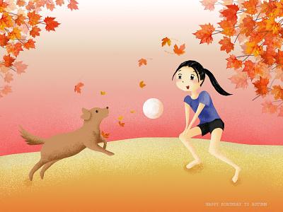 Autumn photoshop illustration design