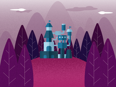Castle art illustrator flat vector design illustration