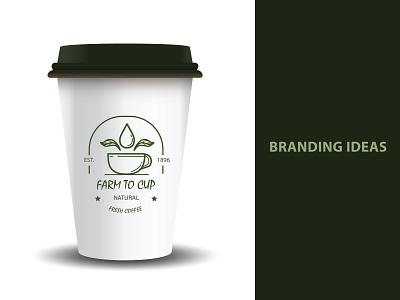 dribbble coffee typography branding logo