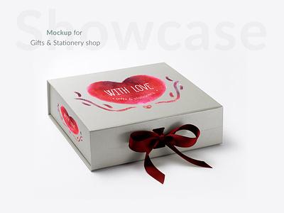 giftbox minimal illustration logo