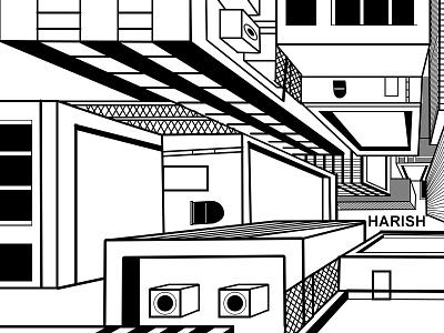 Harish Perspective Drawing 1