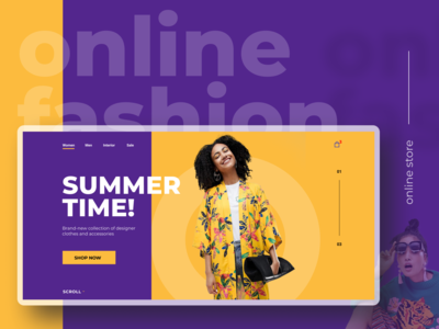 Online fashion store | New collection promo page concept
