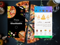 The pizza ordering app for a khoshbakht restaurant