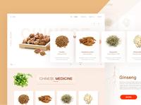 Chinese herbal medicine concept website design