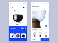 Smart Home App-white and blue