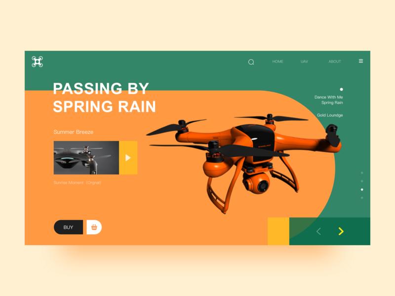 UAV Web Design smarthome green app design colour uav ui web