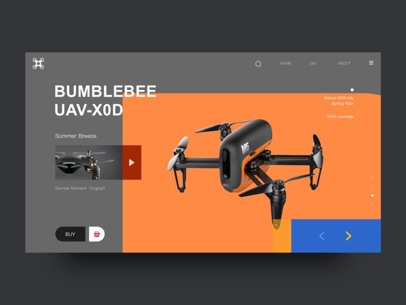 UAV Web Design 2 color uav clean web ui