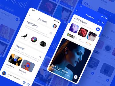 Smart Music APP design clean sketch music blue app ui