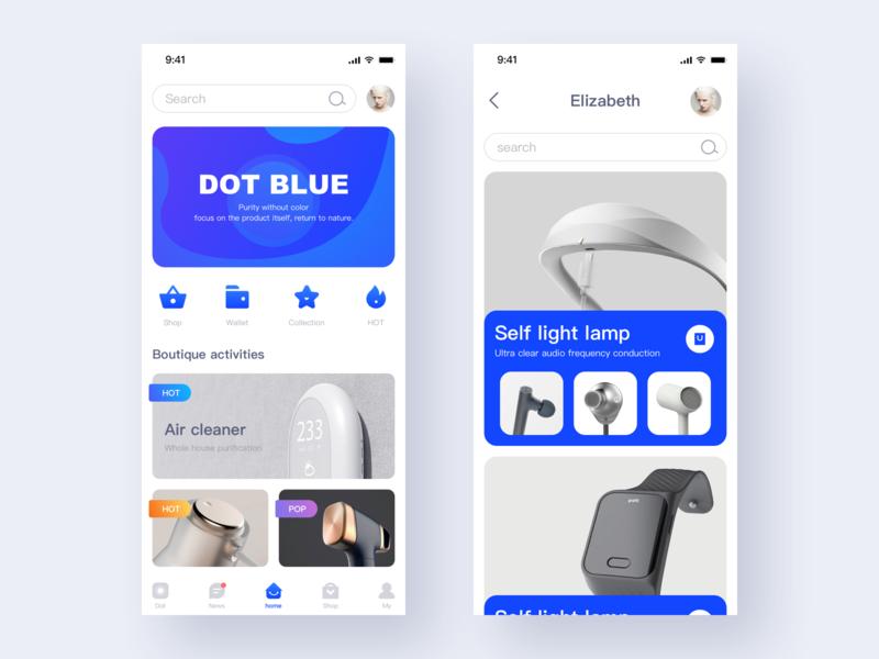 Smart Home App X1 web clean smarthome blue app ui
