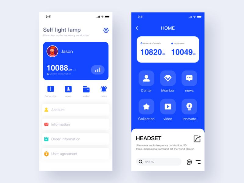 Smart Home App X2 sketch smarthome clean blue app ui