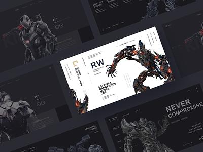 Mecha Alliance 03 game sketch ps machine armor design web ui