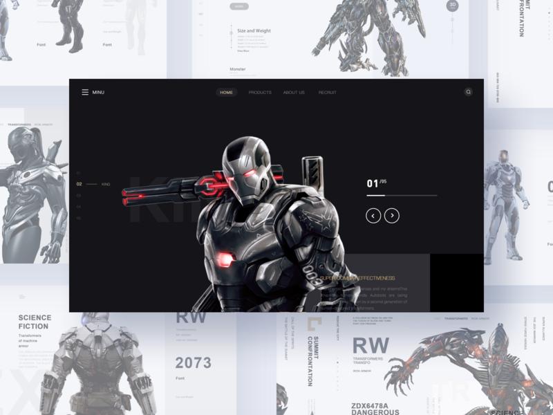 Machine armor 4 film movie game design app web ui