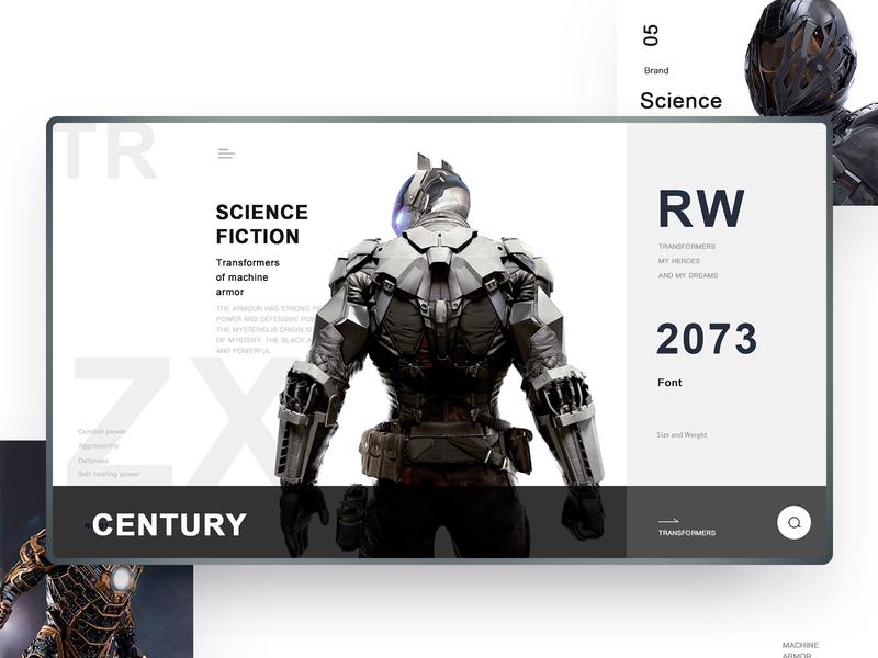 Machine armor 8 game sketch design clean web ui
